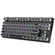 (1024304) Клавиатура игровая CROWN CMGK-901 (Количество клавиш 87, Механический тип клавиш, Клавиши в винтажном стиле, Форм-фактор TKL, Настраиваемая RGB подсветка)
