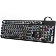 (1024305) Клавиатура игровая CROWN CMGK-903 (Количество клавиш 104, Механический тип клавиш, Клавиши в винтажном стиле, Настраиваемая RGB подсветка)