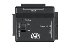 """(1016060) Универсальный переходник AgeStar для HDD 2.5""""/3.5"""" FUBCP2 черный"""