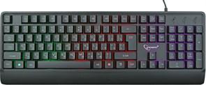 (1018058) Клавиатура с подстветкой Gembird KB-220L, USB, черный, 104 клавиши, подсветка Rainbow, кабель 1.5м