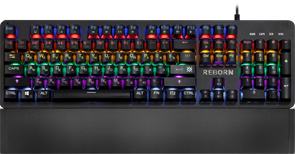 (1024494) Механическая клавиатура Reborn GK-165DL RU,anti-ghost,радужная DEFENDER