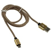 (1024484) Кабель USB USB08-03T PRO USB2.0 Золотой, AM-MicroBM, 1m, 2.1A DEFENDER