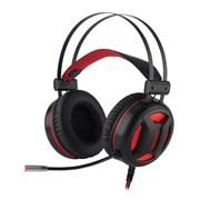 (1024479) Игровая гарнитура Minos красный + черный, кабель 2 м Redragon