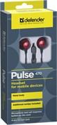 (1024472) Гарнитура Defender Pulse 470 черно-красная вставная (4pin 3,5-мм джек)