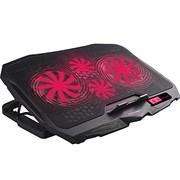 "(1019650) Подставка для ноутбука CROWN CMLS-01 black red ( до 17"", кулеры: D125mm*2+ D70mm*2,красная led подсветка, регулятор скорости, 5 уровней наклона Размер 390*280*28мм)"