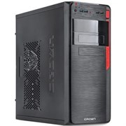 "(1024899) Корпус Miditower CROWN CMC-C503 black ATX (CM-450office)  (midi tower  ATX 390*175*410мм 0,4-0,5 мм SGCC, покрашенное шасси SGCC; USB2.0 * 2 + USB3.0 * 2, Mic * 1, HD audio * 1; слоты 5.25''*4+3.5""*7+2.5''*1; слоты раширения 6 шт;длина виде"