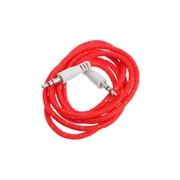 (1024606) Аудио кабель AUX Krutoff 1m, красный (пакет)