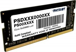 (1024984) Модуль памяти для ноутбука SODIMM 16GB PC25600 DDR4 PSD416G320081S PATRIOT