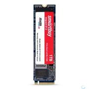 (1024986) Твердотельный накопитель SSD M.2 Smartbuy 1.0Tb Impact E12 <SBSSD-001TT-PH12-M2P4> (PCI-E x4, up to 3400/3100MBs, NVMe, 3D TLC, DRAM, 1620TBW, PS5012-E12, 22х80мм)