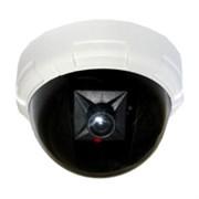 (192279)  Муляж купольной антивандальной камеры видеонаблюдения Orient AB-DM-25W, мигающий красный светодиод, питание от батареек 2xAA, цвет белый