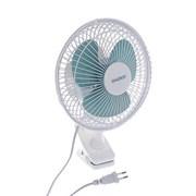 (1020430) Вентилятор ENERGY EN-0602, настольный, прищепка, 15 Вт, 2 скорости, бело-синий 3531009