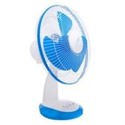 (1020433) Вентилятор LuazON LOF-03, настольный, 35 Вт, 28 см, 3 режима, бело-синий   4021012