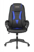 (1023857) Кресло игровое Бюрократ VIKING-8N черный/синий искусственная кожа крестовина пластик