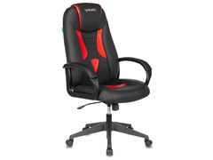 (1023858) Кресло игровое Бюрократ VIKING-8N черный/красный искусственная кожа крестовина пластик