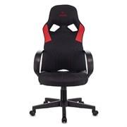 (1024557) Кресло игровое Zombie RUNNER черный/синий текстиль/эко.кожа крестовина пластик
