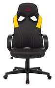 (1024558) Кресло игровое Zombie RUNNER черный/желтый искусственная кожа крестовина пластик