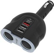 (1024925) Автомобильное зар./устр. Ritmix RM-24XQPD 3.1A+2.4A+1.5A (QC) универсальное черный (80000166)