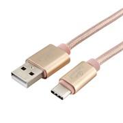 (1025000) Кабель USB 2.0 Cablexpert, AM/TypeC, серия Ultra, длина 1м, золотой, блистер
