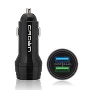 (1025226) Автомобильная зарядное устройство CROWN MICRO CMCC-3011, черный