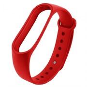 (1025557) Ремешок силиконовый Krutoff для Xiaomi Mi Band 3/4 (red)