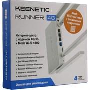 (1025572) Роутер беспроводной Keenetic Runner 4G N300 10/100BASE-TX/4G cat.4 белый RUNNER 4G