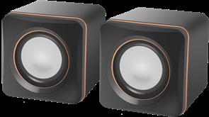(1025579) Акустическая 2.0 система SPK 33 серый, 5 Вт, питание от USB DEFENDER
