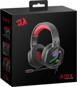 (1025581) Игровая гарнитура Ajax красный + черный, кабель 2 м Redragon