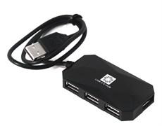 (1025719) Концентратор 5bites HB24-207BK 4*USB2.0 / USB 60CM / BLACK