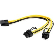 (1025614) Кабель питания  Cablexpert CC-PSU-85 PCI-Express 8-пин на 6+2 пин x 2 шт., 0.3 м