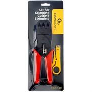 (1025618) Набор инструментов Cablexpert TK-TP-01, для обжима, обрезки, зачистки и заделки витой пары