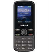 """(1025672) Мобильный телефон Philips Xenium E111 32Mb черный 1.77"""" 128x160 867000176126"""