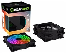 (1025758) GameMAX RL300 Комплект вентиляторов 3*120мм два кольца RGB подсветки, контроллер, пульт