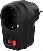 (1025782) Сетевой фильтр Hama H-121919 (1 розетка) черный (пакет ПЭ) 00121919