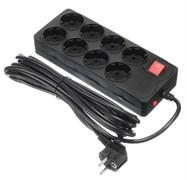 (1025807) Сетевой фильтр Buro 800SH-5-B 5м (8 розеток) черный (коробка)