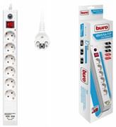 (1025810) Сетевой фильтр Buro BU-SP1.8_USB_2A-W 1.8м (6 розеток) белый (коробка)