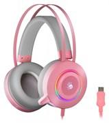(1025777) Наушники с микрофоном A4Tech Bloody G521 розовый 2.3м мониторные USB (G521 ( PINK ))