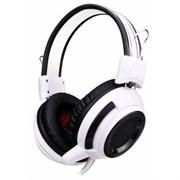 (1014620) Наушники с микрофоном Oklick HS-G300 ARMAGEDDON белый/черный 2.3м мониторы (AH-V1W)