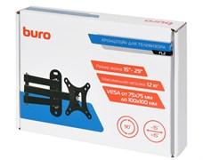 """(1025816) Кронштейн для телевизора Buro FL2 черный 15""""-29"""" макс.12кг настенный поворотно-выдвижной и наклонный BM12A71TS3"""