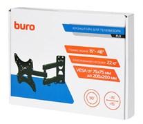 """(1025817) Кронштейн для телевизора Buro FL3 черный 15""""-48"""" макс.22кг настенный поворотно-выдвижной и наклонный BM20A72TS3"""