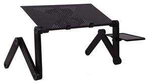 (1025825) Стол для ноутбука Buro BU-803 столешница металл черный 48x26см