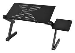 (1025826) Стол для ноутбука Buro BU-804 столешница металл черный 48x26см