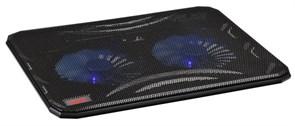 "(1025828) Подставка для ноутбука Buro BU-LCP156-B214 15.6""358x270x21мм 1xUSB 2x 140ммFAN 597г металлическая се"