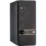 (1026204) Exegate EX280452RUS Корпус Slim Minitower Exegate MS-305 Black, mATX <без БП, 80mm> 2*USB, Audio