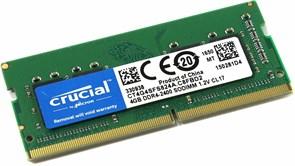 (1026267) Модуль памяти SO-DIMM DDR 4 DIMM 4Gb PC19200, 2400Mhz, Crucial (CT4G4SFS824A)