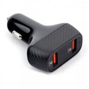 (1026277) Адаптер питания Cablexpert MP3A-UC-CAR19, 2хUSB Type-A 36Вт, QC