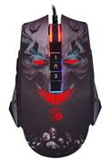 (1026437) Мышь A4Tech Bloody P85s Skull рисунок оптическая (8000dpi) USB (8but) P85S SKULL ACTIVATED