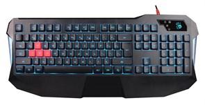 (1026451) Клавиатура A4Tech Bloody B130 черный USB for gamer LED