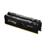 (1026498) Модуль памяти DDR 4 DIMM 32Gb PC25600, 3200Mhz, Kingston FURY Beast Black RGB (Kit of 2), CL16 (KF432C16BBAK2/32) (retail)