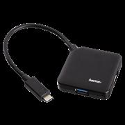 (1026534) Разветвитель USB-C Hama 4порт. черный (00135750)