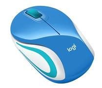 (1026541) Мышь Logitech беспроводная M187 Mini Mouse, Blue
